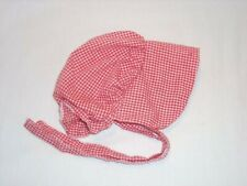 American Girl Kirsten Red Meet Sun Bonnet~Sunbonnet~Hat~Cap~AG tag~Historical