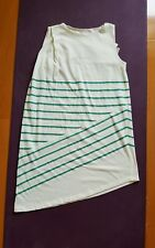 Band Of Outsiders White green stripe Sleeveless Shirt Dress Size 1