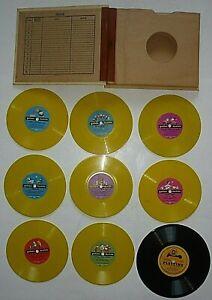 "9 Vtg Childrens Records 8 Yellow 78 rpm 6"" Golden Records, 1 7"" Playtime & Album"