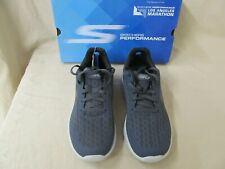 NWD Men's 7 M Skechers Performance Go Run 400 Charcoal/Red Disperse 54353/CCRD