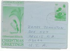 GILBERT & ELLICE Islands  - Postal History -  STATIONERY AEROGRAMME  USED To USA