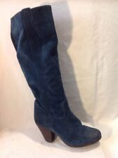 Office London Dark Green Knee High Suede Boots Size 38