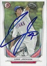 Luke Jackson Texas Rangers 2014 Bowman Signed Card