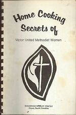 * GREER SC VINTAGE HOME COOKING SECRETS * METHODIST CHURCH COOK BOOK * LOCAL ADS