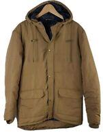 Mens ACW85 Coat Hooded Large Size L Khaki Brown Jacket Mans All Seasons