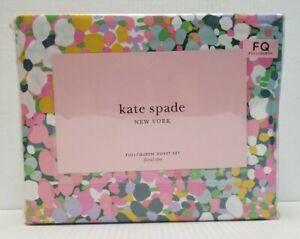 Kate Spade New York  Lilac Floral Dots Full Queen Duvet Set