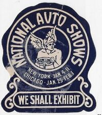USA 1930s Cinderella - National Auto Shows, New York - dw905.15