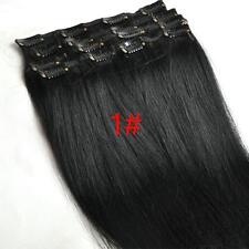 On Sale 14'' Clip In Remy Human Hair Extensions 7pcs/set Brown Black Blonde Hair