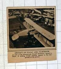 1920 Striking Tourist Aeroplane In International Aircraft Exhibition In Paris