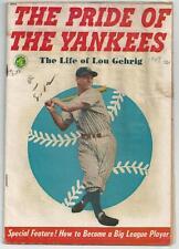 Original 1949 The Pride of the Yankees Lou Gehrig Comic Magazine RARE TOUGH J9