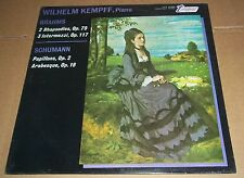Wilhelm Kempff BRAHMS/SCHUMANN - Turnabout TV-S 34386 SEALED