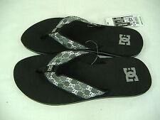 New Mens 13 DC Shoes Habit Black Monogram Surf Beach Sandals $25