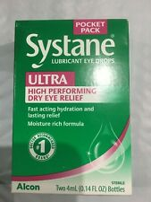 Systane Ultra Eye Drops Lubricant High Performance2X4 mL bottles Exp.8/20& After