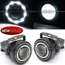 """For H3 H1 3"""" Round Projector Fog Lamps w/ 9 White LED Halo Light Set"""