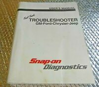 1998 Snap-On Diag Fast-Track Troubleshooter User's Manual GM-Ford-Chrysler-Jeep