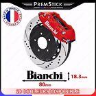 Kit 4 Stickers Etrier de Frein Bianchi ref2; Auto voiture autocollant