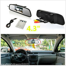 "4.3"" TFT LCD Car Reverse Camera Rearview Mirror Monitor Display Support PAL/NTSC"