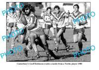 OLD LARGE PHOTO CANTERBURY BULLDOGS GREAT GEOFF ROBINSON c1980