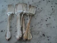 1847 ROGERS BROS IS REFLECTION SILVER PLATE 12) FORKS @@@@