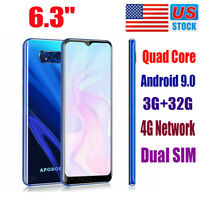 "S10 6.3"" 32GB 4G LTE Unlocked Android 9.0 Phone Dual SIM Smartphone Quad Core"