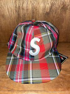 Supreme Gore-tex S Logo 6 Panel Cap Olive Plaid