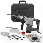 1-1/4' SDS Plus Electric Rotary Hammer Drill Chisel Point & Flat Bits w/ Case
