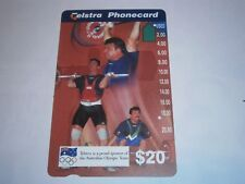 $20 TELSTRA PHONECARD WEIGHTLIFTING ATHLETES OLYMPIC TEAM RARE - FREE POSTAGE