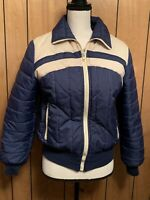 Di Carlo of California Vintage Blue Puffer Jacket XS/S Long Sleeve USA