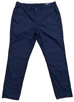 Bonobos Mens Size 35X32 Long Chino Pants Navy Blue EUC