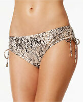 NEW Calvin Klein Snake-Print Side-Tie Swim Bikini Bottoms L Large $68 CG6BD089