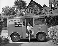 Photograph of a Walker Electric Sealtest Milk Delivery Truck Year 1943  8x10