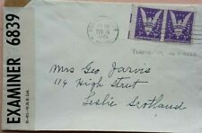 UNITED STATES 1945 MINNEAPOLIS COVER WITH M IN CIRCLE PERFIN CENSORED IN ENGLAND