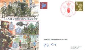 AF25 Northern Ireland Operation Banner PARA cover signed GENERAL SIR FRANK KING
