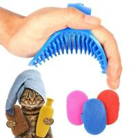 Pet Dog Bath Comb Cleaner Grooming Brush Puppy Hair Remover Shedding Comb AU