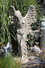 Großer Engel mit Flügel  stehend Steinguß Figur Statue Gartenfigur SHEKINAH