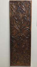 Look invecchiato Pannello di Muro Appeso Vaso di fiori dipinti a mano intaglio 100% Legno di Mango