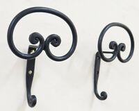 Couple Coat Hangers Wall Wrought Iron Hanger Design Vintage CH15