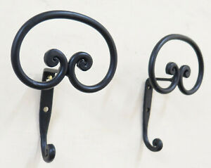 Couple Coat Hangers Wall Wrought Iron Hanger Design Vintage CH15