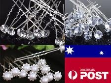 Crystal bridal hair pins clear hair accessories wedding party 10mm Ballet