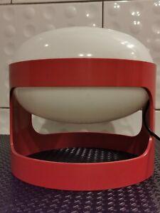 Lampe vintage 70 design joe colombo KD 27 rouge (rare) pour Kartell
