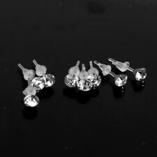 48Pcs Women Round Rhinestone Earrings Ear Studs Pin Body Piercing Jewelry