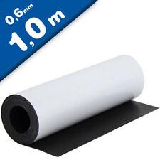 Magnetfolie weiß matt beschichtet 0,6mm x  62cm x 100cm - Meterware