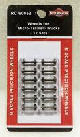 "Intermountain N 60052 33"" Metal Wheels for Micro-trains Trucks (12 pieces). New"