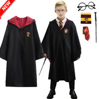 Magical Harry Potter Gryffindor Robe Costumes Suit Adult Kids Wizard Cape Cloak