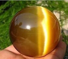 New ASIAN QUARTZ TIGER EYE CRYSTAL HEALING BALL SPHERE 40MM + STAND.9