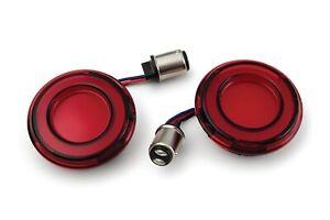 Kuryakyn Tracer Red LED Rear Turn Signal Conversion Kit 1157 Red Lens Bullet