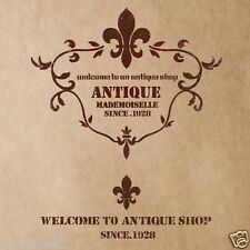 Stencil Template Antique shop For Crafting Canvas DIY Wall decor art furniture