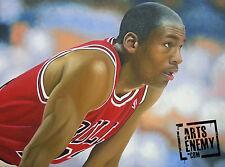 Michael Jordan- Hand OIL PAINTING canvas signed POP ART NBA Chicago Bulls MVP 96