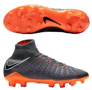 NIKE HYPERVENOM III ELITE DF FG SOCCER CLEATS SHOES GREY AH7292-081 YOUTH SIZE 5