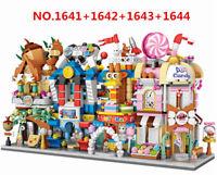 1748 PCS LOZ MINI Blocks Kids Building Toys DIY Puzzle Street Store 1641-1644